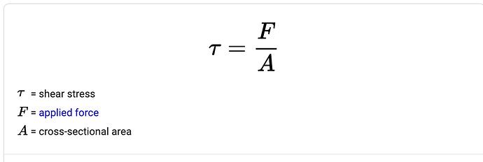Shear Stress Equation